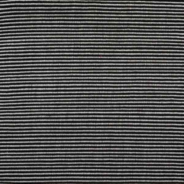 close up on Black and White Cotton Pouch with Small Stripes from Peru