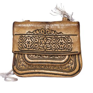Front view ABURY Vintage Leather Berber Bag Suha