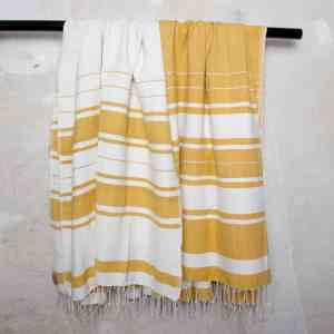 Mustard  Cotton Beach Towels handmade quality from Ethiopia