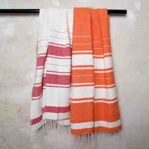 Burgundy Red Cotton Beach Towels handmade quality from Ethiopia