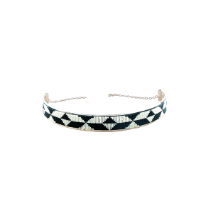 Jo Black and White colour Choker - jewellery from India