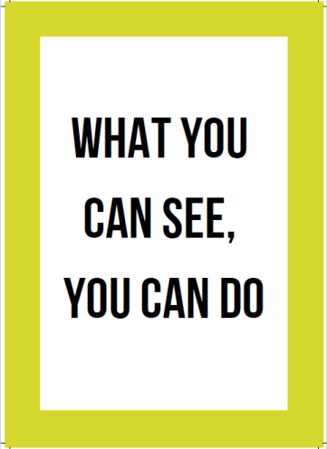 start living today workbook review. a page taken from the book: what you can see, you can do