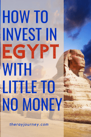 passive income in egypt. how to invest in egypt with little to no money. Pinterest.