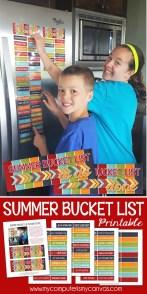 FREEBIE - Summer Bucket List - pin