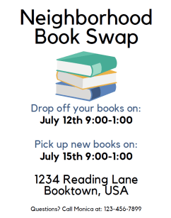 Neighborhood Book Swap Flier
