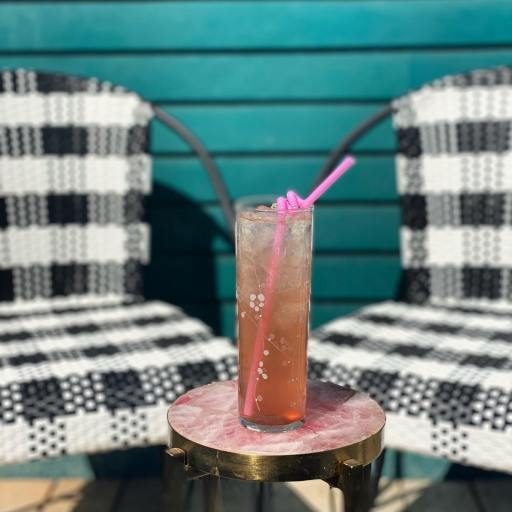 Tiny House drink and patio seating