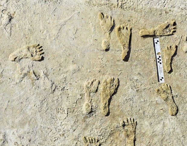 Human fossilized footprints discovery 2021 | Footprints of Ancient Human being Found in the USA