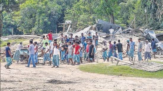 Violence in Assam news Today: The boy after collecting his Adhaar card was killed in Assam eviction drive