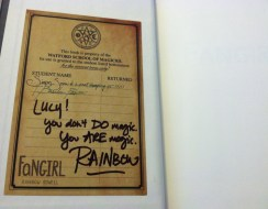 Fangirl by Rainbow Rowell signed bookplate