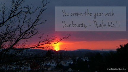 You Crown the Year With Your Bounty | thereadingmother.net