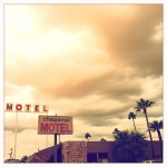 Old Motel Sign, California Road Trip, Palm Trees, Hipstamatic Photography