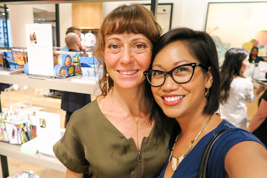 thereafterish x the mermaid's Mirror, Nadia Fairlamb, Caucasian woman and Asian woman pictured together