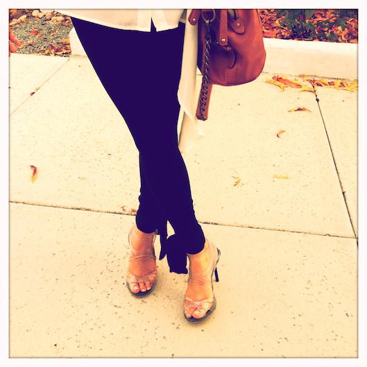 OOTD, Clear Stilettos, Asymmetrical Chiffon Blouse, Asian Street Style