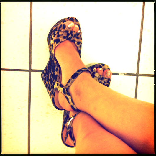 Hawaii Fashion, Leopard Wedge Heels