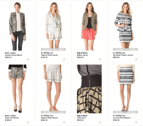 monochromatic prints spring trend, shopbop, shopbop giveaway