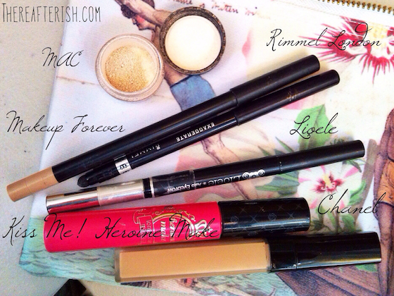 thereafterish, what's in my makeup bag, makeup look, easy makeup, simple makeup how to, coral color