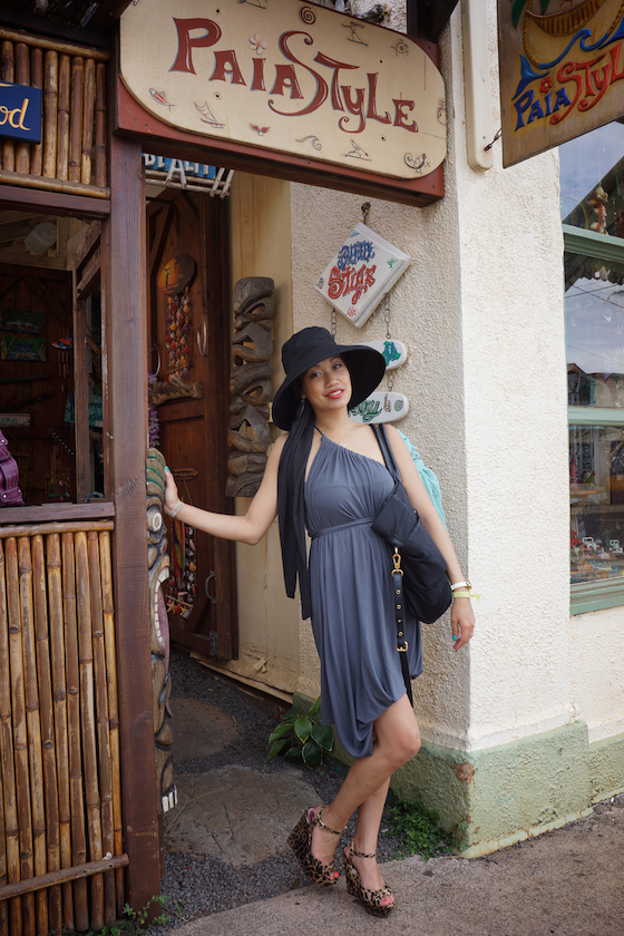 thereafterish, OOTD, Maui Travel, Emami Limitless Dress, Convertible Dress, ETSIS Sun Protection Hats For Women, ETSIS