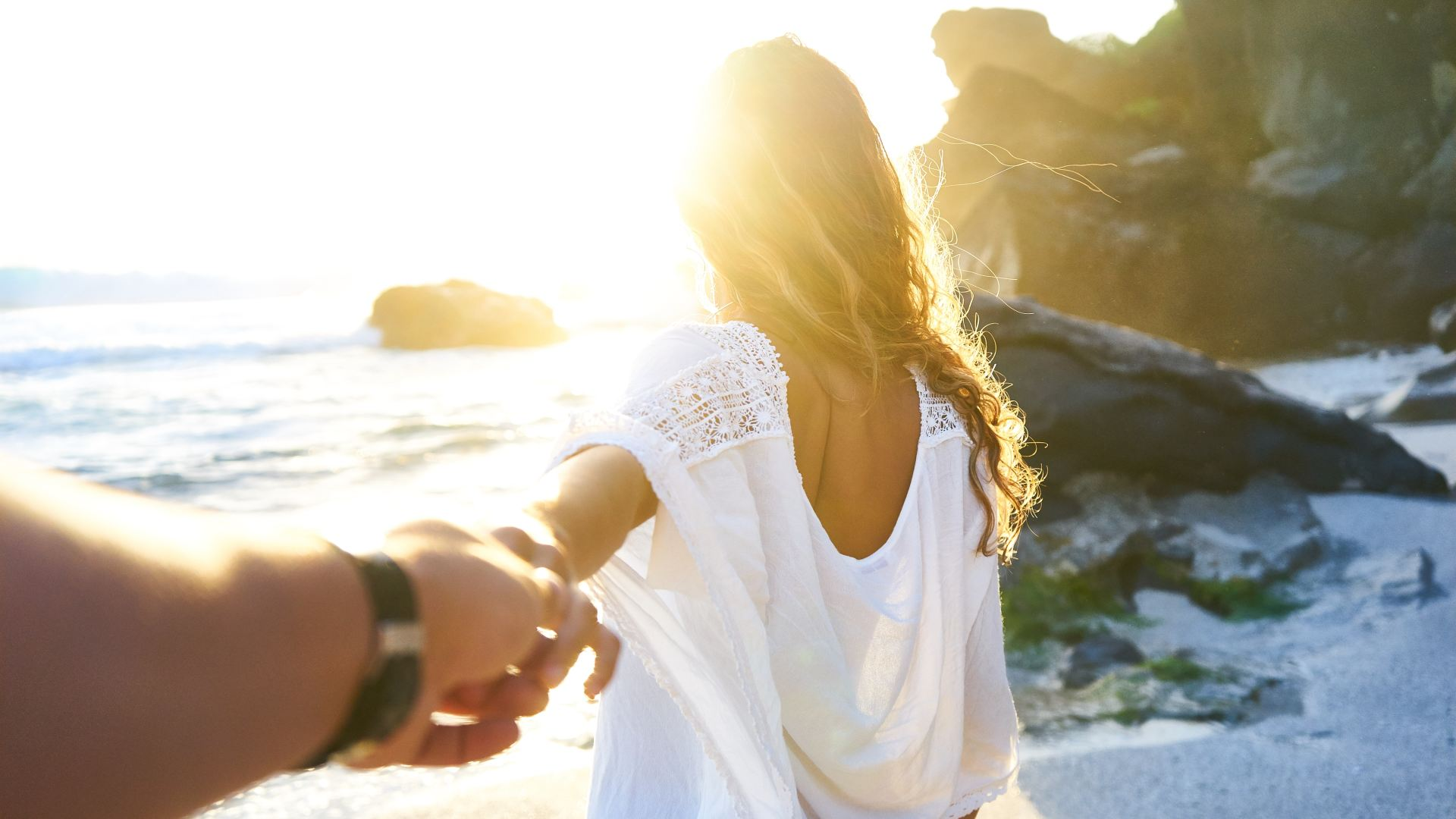 A couple on honeymoon in Portugal, Algarve