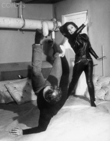27 Aug 1965, London, England, UK --- Diana Rigg practices Judo with her instructor in preparation for her role as Emma Peel on The Avengers. --- Image by © Bettmann/CORBIS