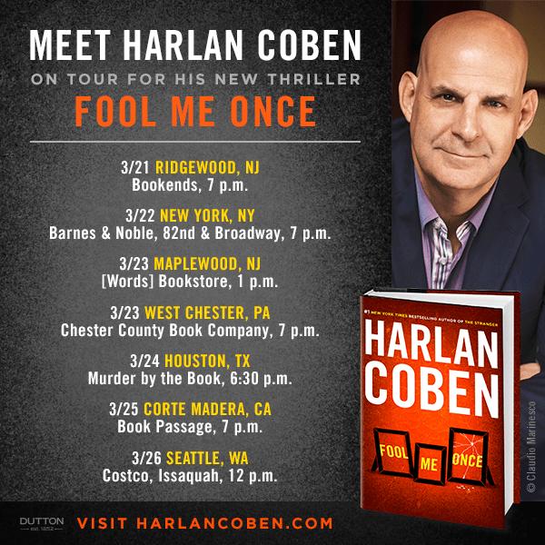 Harlan Coben Book Tour Fool Me Once