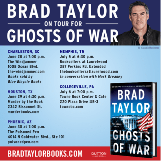 Brad Taylor Ghost of War book tour