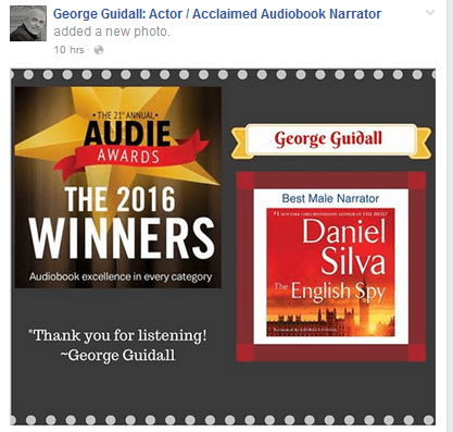 George Guidall Wins Audie Award For Best Male Narrator – The