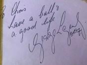 George Lazenby Autograph