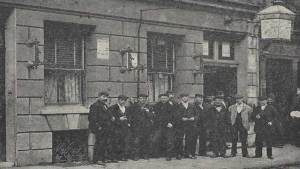 Men outside a Common Lodging House