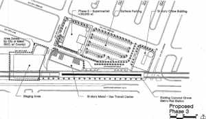 A sample site plan for the property