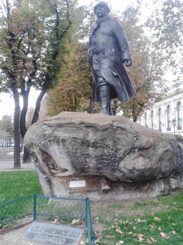 Statue of Clemenceau near the Petit Palais