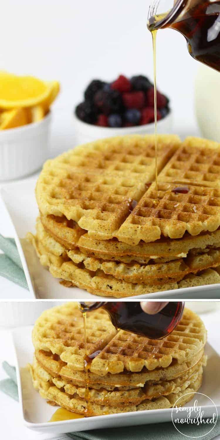 Crispy Grain-free Waffles | Say good-bye to tasteless frozen waffles from a box and helllllooooo to the crispy grain-free waffles of your breakfast dreams | Paleo | Vegan | Gluten-Free |