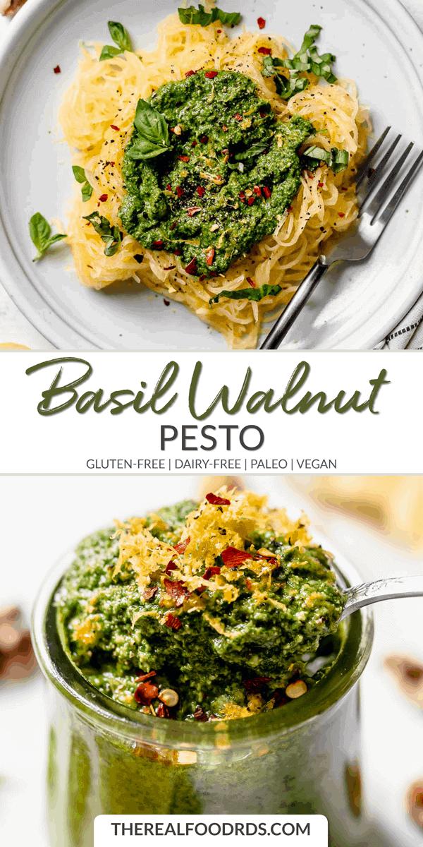 Long Pin Image for Basil Walnut Pesto