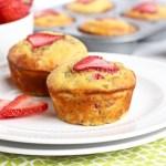 Grain-free Strawberry Rhubarb Chia Muffins