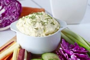 Classic Garlic Cauliflower Hummus