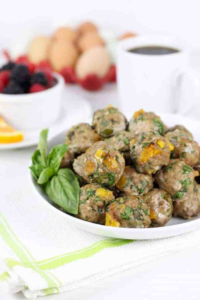 Apricot-Basil Breakfast Meatballs | The Real Food Dietitians | http://therealfoodrds.com/apricot-basil-breakfast-meatballs/