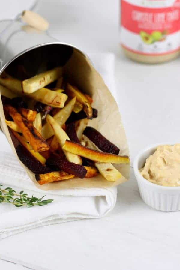 Garlic Roasted Root Vegetable Fries | therealfoodrds.com