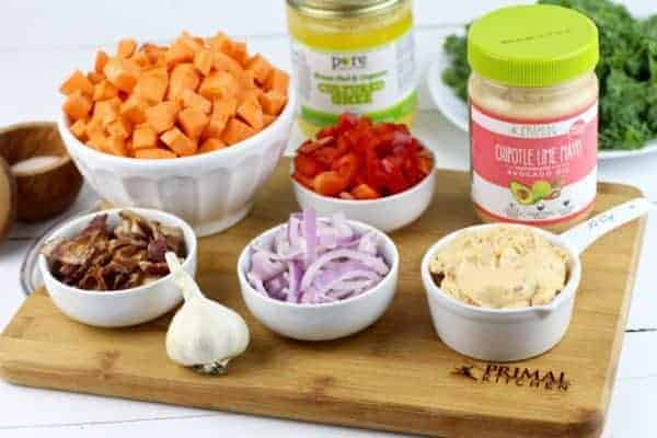 Primal Kitchen Chipotle Lime Mayo warm chipotle lime sweet potato salad - the real food dietitians
