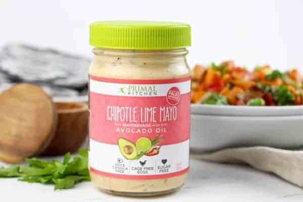 warm chipotle lime sweet potato salad - the real food dietitians