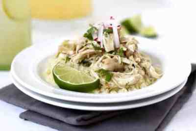 Slow Cooker Chicken Chile Verde | 5 ingredients | The Real Food Dietitians | http://therealfoodrds.com/slow-cooker-chicken-chile-verde/