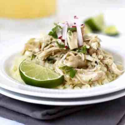 Slow Cooker Chicken Chile Verde