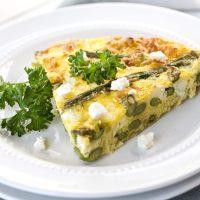 Crustless Asparagus & Leek Quiche