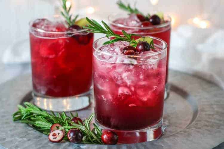 Sparkling Cranberry Kombucha Mocktail | The Real Food Dietitians | https://therealfoodrds.com/sparkling-cranberry-kombucha-mocktail/