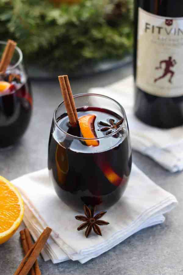 Slow Cooker Mulled Wine   Low-sugar   healthy holiday drinks   homemade mulled wine   homemade holiday drinks   low carb holiday drinks   vegan holiday drinks   paleo holiday drinks    The Real Food Dietitians #mulledwine #healthyholidays #lowsugar #lowcarbdrinks