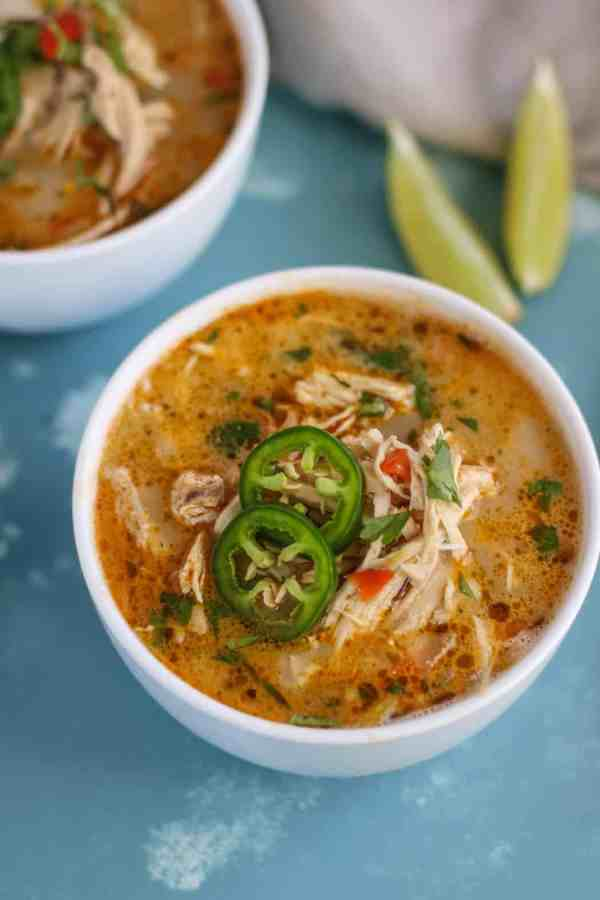 Slow Cooker White Chicken Chili - Whole30   The Real Food Dietitians   https://therealfoodrds.com/slow-cooker-white-chicken-chili/