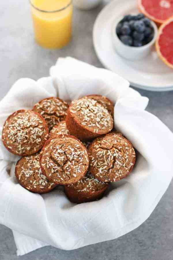 Grain-free Banana Coconut Muffins | The Real Food Dietitians | http://therealfoodrds.com/grain-free-banana-coconut-muffins/