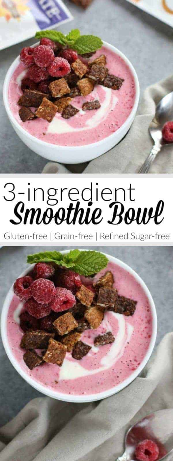 Snacks with benefits: Our 3-Ingredient Smoothie Bowl is the perfect little 5-minute sweet treat! | Gluten-free | Grain-free | Vegetarian | therealfoodrds.com