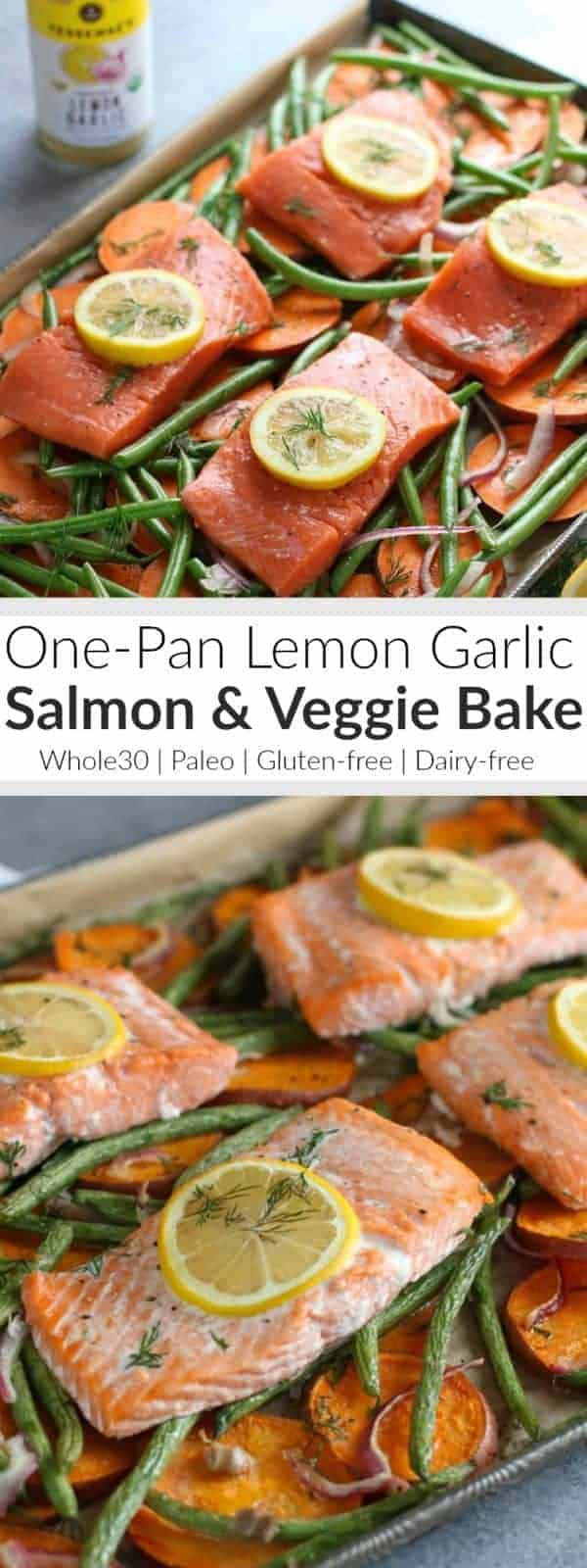 One Pan Salmon & Veggie Bake   Make life easier this week with our One-Pan Salmon and Veggie Bake. Just one pan and minimal clean up! Whole30   Gluten-free   Dairy-free   Paleo   https://therealfoodrds.com/one-pan-salmon-and-veggie-bake/