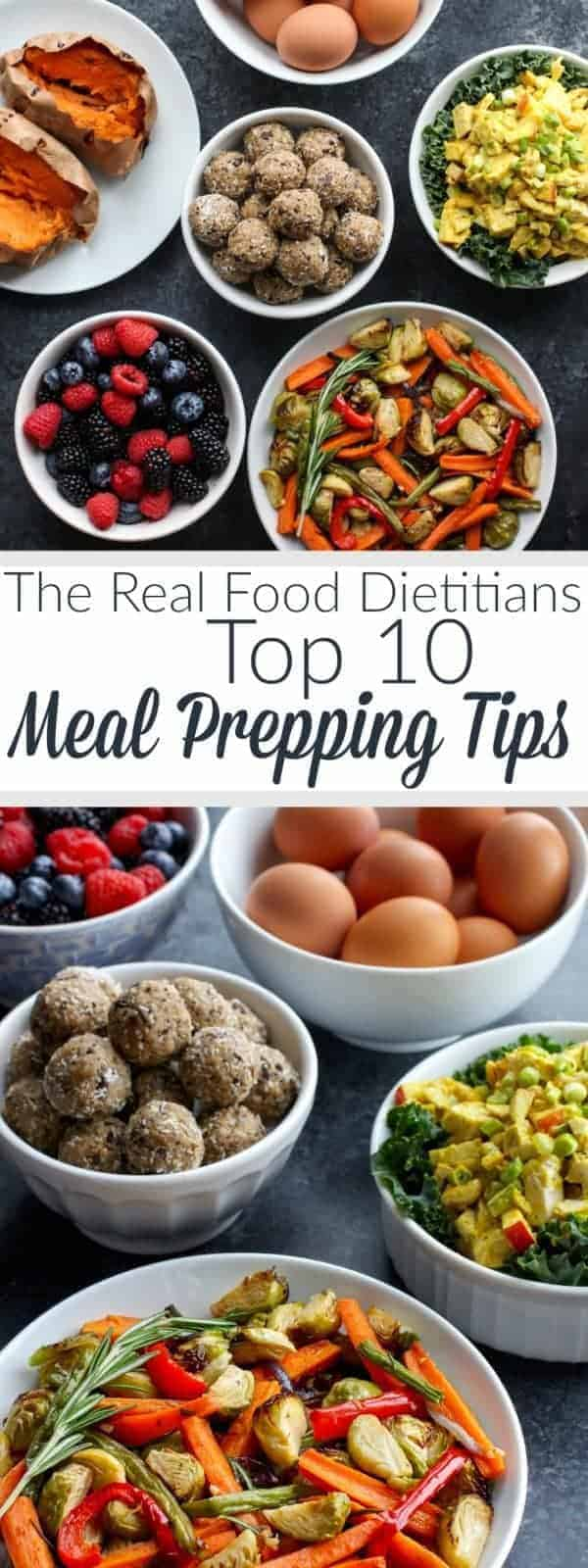 The Real Food Dietitians Top 10 Meal Prepping Tips + Introducing our NEW Weekend Meal Prep Series including recipes, tips and done-for-you grocery lists. | therealfoodrds.com
