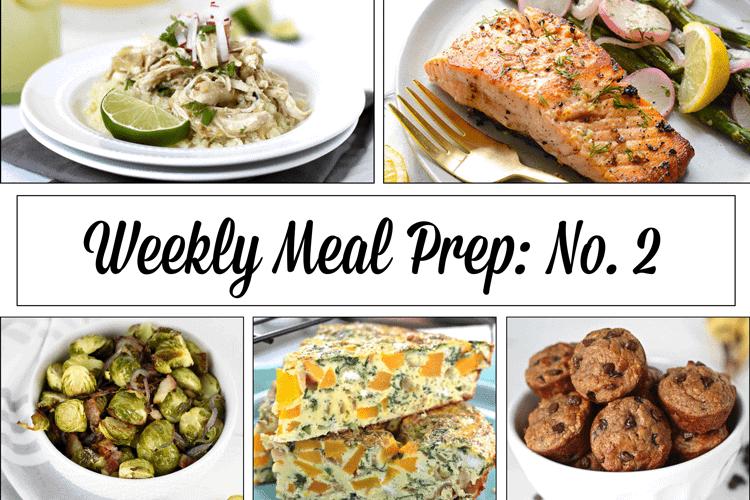 Weekly Meal Prep Menu: No. 2