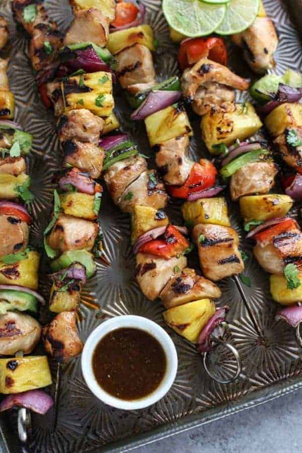 Teriyaki Chicken and Pineapple Kebabs | The Real Food Dietitians | https://therealfoodrds.com/teriyaki-chicken-pineapple-kebabs/